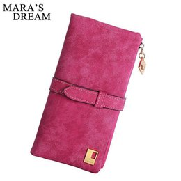 $enCountryForm.capitalKeyWord Australia - Mara's Dream 2019 Solid Drawstring Nubuck Leather Zipper Long Women Wallet Phone Bag Wallets Designer Purse Card Holder Clutch