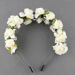 $enCountryForm.capitalKeyWord Australia - Fashion Women Flower Headband Wedding Garland Floral Hairband Head Wreath Bridesmaid Bridal Headpiece Girls Hair Accessories