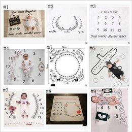Dot photography backDrop online shopping - Baby Photo Blankets Toddle Milestone Blankets Photography Backdrops Prop Letter Flower Print Blanket Newborn Wrap Swaddling Styles YL389