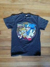 Vintage Spun Cotton Australia - Vintage 90s Mens Sonic The Hedgehog 2 Two Tails Tee T Shirt Size Small Soft Spun