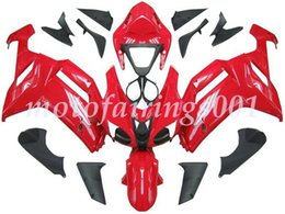 custom zx636 Australia - 4Gifts Free Custom New ABS Bodywork set Fairings kits Fit For KAWASAKI Ninja ZX-6R ZX-636 ZX636 ZX6R 2007 2008 ZX 636 Red