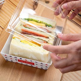 sandwiches box Australia - 1200pcs lot Sandwich Box Salad Dessert Hotdog Cake Packaging Boxes with Transparent Lids Kraft Cardboard Paper Gift Box