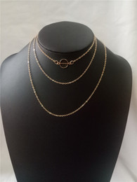 Triple Chains NZ - cecmic half circle cheap gold rose plated triple layered chains necklaces jewelry for cloths accessories wearing
