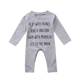 wholesale kids rompers suits NZ - Cute Baby Kid Rompers Cotton Long Sleeve Newborn Boy Girl Top Romper Jumpsuit Baby suit Cotton Clothes Outfit USA