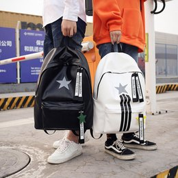 teenage girl shoulder bags 2019 - Youth Student School Bag PU Leather Backpacks For Teenage Girls and Boys Designer New Fashion Double Shoulder Bag for Ju