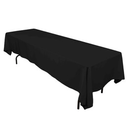table tablecloths UK - Meijuner Satin Tablecloth Double Stitched Edge 145cmx304cm Rectangular Cloth Solid Table Covers For Wedding Banqueting Q190611