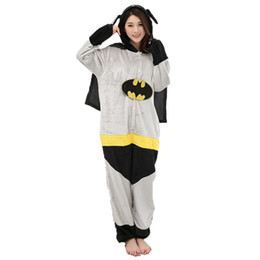Wholesale anime girl costumes online – ideas Adult Anime Batman Superman Kigurumi Onesies Costume For Women Men Funny Warm Soft Animal Cute Onepieces Pajamas Home Wear Girl