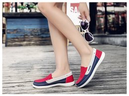 Tennis Shoes Springs Australia - 2019 Spring women canvas sneakers for woman slip on loafers shoes women flats tennis shoes ladies flat slip on sneakers