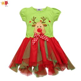 f167ac272655 good quality Cute Girls Christmas Dress Kids Girls Dresses for Xmas Deer  Pattern Children's Clothing