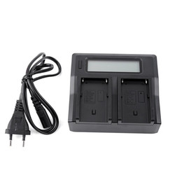 100-240V LCD Dual Battery Charger For Sony NP-F970 NP-F770 F750 F550 F570 Series Free Shipping 3 on Sale