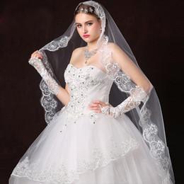 428953e39d Wedding Veil Comb Bridal Cathedral Veil 1 Tier Drop Veil Wedding  Rhinestones Peine para el cabello para novias 118 pulgadas (blanco)