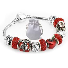 fc719b1ec Apples jewelry set online shopping - Handmade Diy Charms Bracelets Fit  Pandora Woman Red Apple Crystal