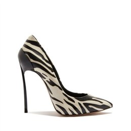 eea2a02da8 Newest white zebra images man made Leather stiletto Heel Pumps Shoes ladies  Elegant Pointed Toe Slip On classic Women party Shoes