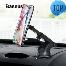 Wholesale Telescopic Car Phone Holder For Iphone Cell Mobile Phone Windshield Dashboard Suction Cup Car Mount Magnetic Holder Stand