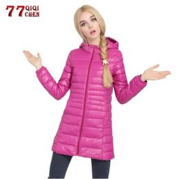 $enCountryForm.capitalKeyWord Australia - Autumn Winter Ultra Light Down Jacket Women Windproof Warm Casual Hooded Long Coat White Duck Down Parkas Overcoat Plus Size 7XL