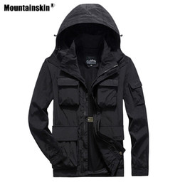 Discount mens jacket 7xl - Mountainskin Mens Hiking Quick Dry Jackets Outdoor Sports 7XL Climbing Camping Fishing Trekking Male Breathable Solid Co
