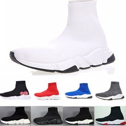 3bf314adf5 White lace Wedding shoe boots online shopping - 2019 NEW Brand Men Women  Sock Shoes Black