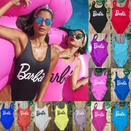 d9479ce877 Letter Bodysuit Women One-piece Letter Swimsuit Sexy High Cut Thong Brazil  Monokini Low Back Beach Bathing Suit Female Swimwear Y19052101