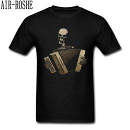 $enCountryForm.capitalKeyWord Australia - Custom T Shirts Skull Piano Accordion Tshirt Men Blues Lover T-shirt Vintage Black 100% Cotton Mens Tops Tees Slim Fit Clothes