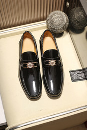 $enCountryForm.capitalKeyWord Australia - Business Leather Shoes For Mens Moccasin-gommino Formal Slip-On Gentleman Wedding Dress Luxury Drive Shoes Size 38-44