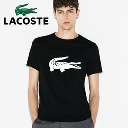 Wholesale Lacost French crocodile spring summer new men s short sleeved t shirts counter genuine