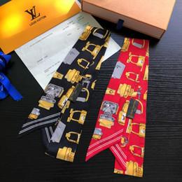 $enCountryForm.capitalKeyWord Australia - European brands women ribbon silk scarf beautiful mix design girls neckerchief hair band bag handle wraps small neck scarves wide variety