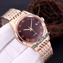 drive bracelet NZ - New Drive Hour Vision 433.50.41.21.13.001 A2813 Automatic Mens Watch Rose Gold Brown Dial Roma Mark Stainless Steel Bracelet hi_watch H01g7