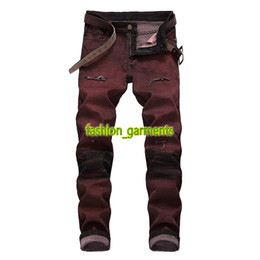 c70476ee26 Red bRand jeans online shopping - Brand New Mens Jeans Hole Trend Slim  Stretch Pants Mens