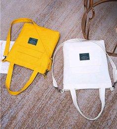 Ladies Soft Canvas Shoes Australia - Shoe bag designer creative design fashion single shoulder ladies bag street trend simple square bag original detachable shoulder strap cloth