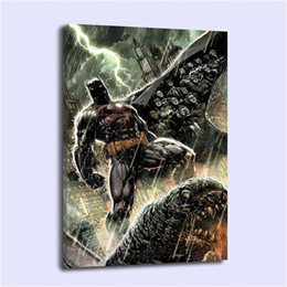 $enCountryForm.capitalKeyWord Australia - Batman in Rain,Home Decor HD Printed Modern Art Painting on Canvas (Unframed Framed)