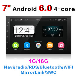 """$enCountryForm.capitalKeyWord NZ - 7"""" Android 6.0 Quad Core car video double 2 Din Car Radio Stereo Bluetooth 1080P Mirrorlink GPS Navigation+Reverse Camera With Wifi #3153"""