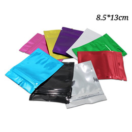 coffee storage bags wholesale NZ - 8.5*13cm multi-colors 100pcs zipper sealing mylar package bags dry food and flowers packing bags coffee beans candy storage packaging bags