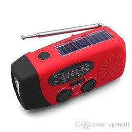 self powered flashlight Australia - Multifunctional Emergency Radio Solar Wind Up Self Powered and Rechargeable Weather Radio Use As LED Flashlight and Power Bank
