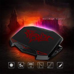 "$enCountryForm.capitalKeyWord Australia - Laptop Cooler Laptop Cooling Pad Quiet 3 Fans Dual USB Chill Mat Adjustable Notebook Holder for macbook 13""14""15""15.6""17"""