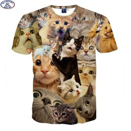 boys t shirts sale NZ - Mr.1991 3d T-shirt For Boys And Girls Funny Magic Kute Kitten A Variety Of Animal Printed Big Kids T Shirt Hot Sale A1 J190529