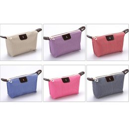 $enCountryForm.capitalKeyWord Australia - HZB-01 make up bag Fashion new Oxford Striped travel kit Zipper pouch korean toiletry kit Striped small cosmetic bag