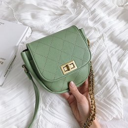 Ladies Handbags Green Australia - Matcha green PU Leather Crossbody Bags Women 2019 Small Chain Handbag small bag PU Leather Hand Bag Ladies Shoulder Bags