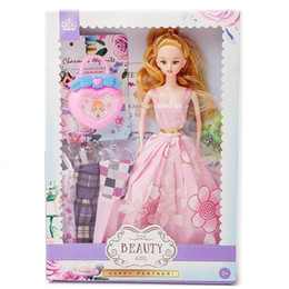 $enCountryForm.capitalKeyWord NZ - Barbie A Doll Exchange Clothes Princess Collocation Handbag And Pull Rod Box Two Fund Girl Toys