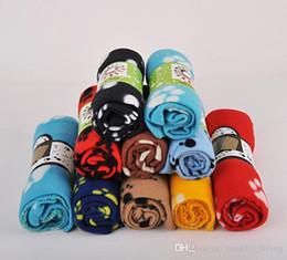 Discount paw beds - 2019 HOT Pets Car Seat Mat Soft Warm Fleece Paw Print Puppy Dog Cat Mat Blanket Bed Sofa Pet Warm Cushion Cover Towel 3