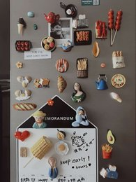 refrigerator cute stickers Canada - Refrigerator Stickers Creative Personality Cute Cartoon Simulation Food Magnetic Paste Magnetic Paste Home Decoration Three-Dimensional Resi