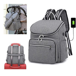 $enCountryForm.capitalKeyWord Australia - Stroller Bag Backpack Baby Diaper Bags Nappy Mother Maternity Mommy Wet Infant For Baby Care Organizer Bag MX190727
