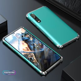 Discount phone protective frame - For Huawei P30 Pro Case Hard PC Luxury Armor Shockproof Metal Frame Hybrid Phone Cover for huawei P30 Cases 360 Full Pro
