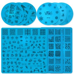 art random Canada - Random Send Random types 3 Choices 10pcs 20pcs 30pcs Various Size Stamp Plate Nail Manicure Template Plate Nail Art Stamping