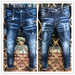 d224b25bdb1 D2 Jeans Zipper Men High Quality 2019 New Style Brand D Denim Jeans  Embroidery Tiger Pants Men Pants Trousers
