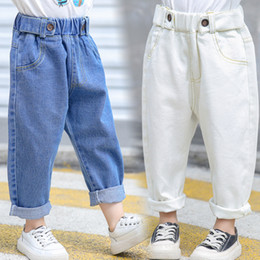 $enCountryForm.capitalKeyWord Australia - 2019 Fashion Spring Korean Style White Blue Jeans for Girls Summer Children's Jeans Fashion Loose Clothes for Girls Baby 2-6 Years