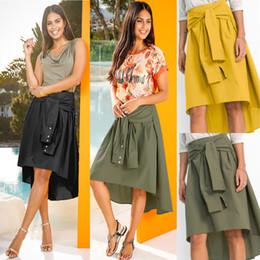 c177fc1c4b Yellow Flared Skirt Australia - New Arrival Wholesale 2019 Party Women  Flared Knee Length Skater Skirt
