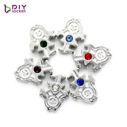 $enCountryForm.capitalKeyWord Australia - Fashion Jewelry diylocket 8mm Charms Girl Floating Charms Birthstones Fit for Floating Lockets Pendant LSFC506