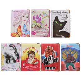 $enCountryForm.capitalKeyWord Australia - Russia Russian Travel Passport Holder Id Card Holders Cartoon New Leather Protect Cover Card Container Pouch