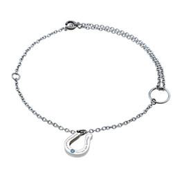 Wear Bracelet Australia - Bracelet ARBSD018-steel New 316L horse shoe shape bracelet 0.01 karat blue diamond 240mm adjustable size chain unisex daily wear gift jewelr