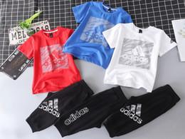 $enCountryForm.capitalKeyWord NZ - Big Boys Kids Clothing Girl Summer Childrens Clothes designer luxury Suit 2019 New Pattern Motion Twinset And Fund Baby Set Child 0606